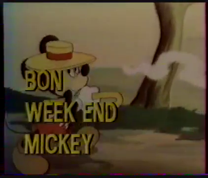 Disney Classique / Bon week-end Mickey