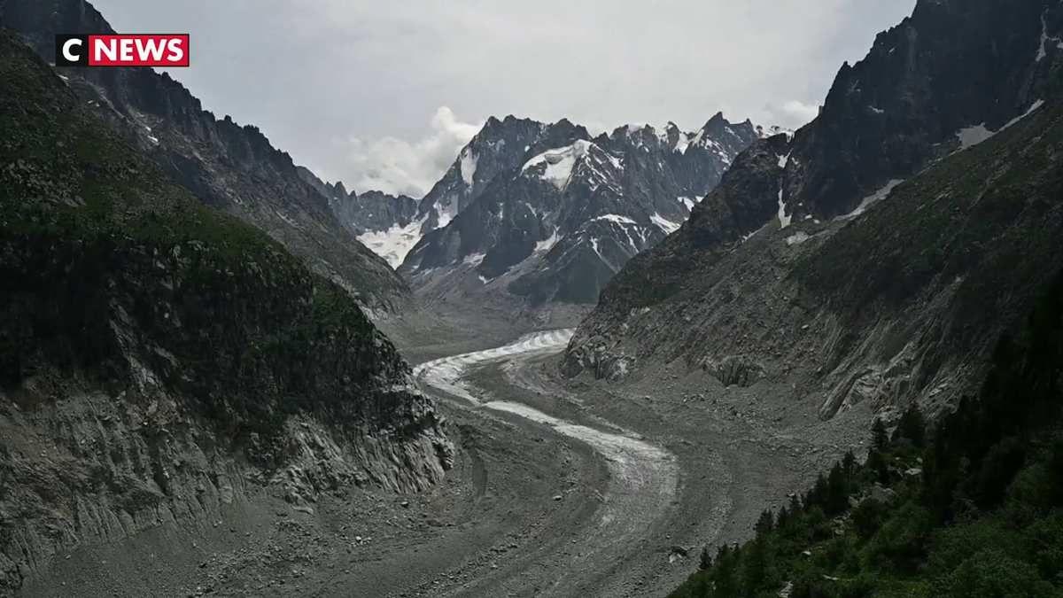 La fonte impressionnante des glaciers alpins
