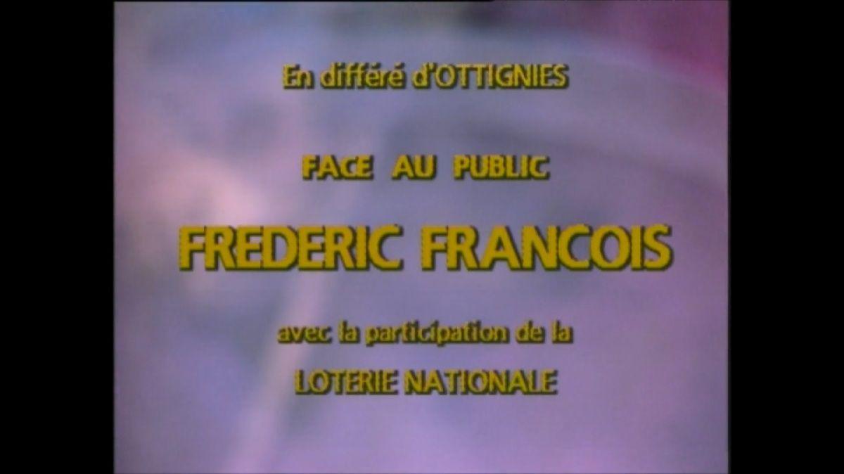 """""""Face au public : Frédéric François"""", datant de 1987, le mercredi 9 octobre à 20h40 sur TV Melody"""