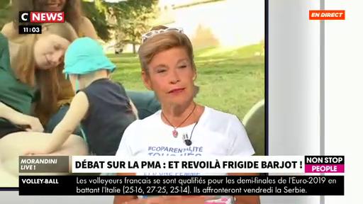 Regardez Frigide Barjot qui décide d'entrer dans le débat sur le projet de loi du gouvernement sur la PMA