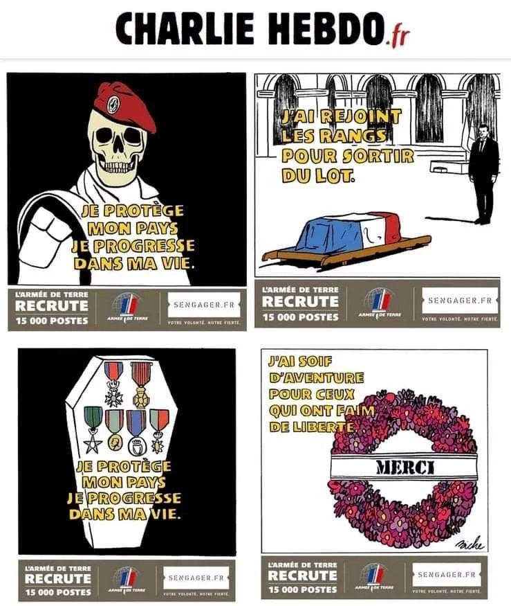 Militaires français tués au Mali : L'armée s'indigne des caricatures de Charlie Hebdo