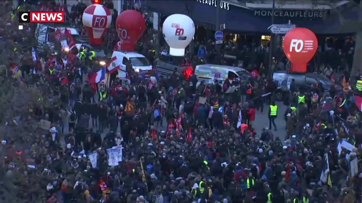 Réforme des retraites : Les manifestants moins nombreux lors de la 6ème journée de mobilisation