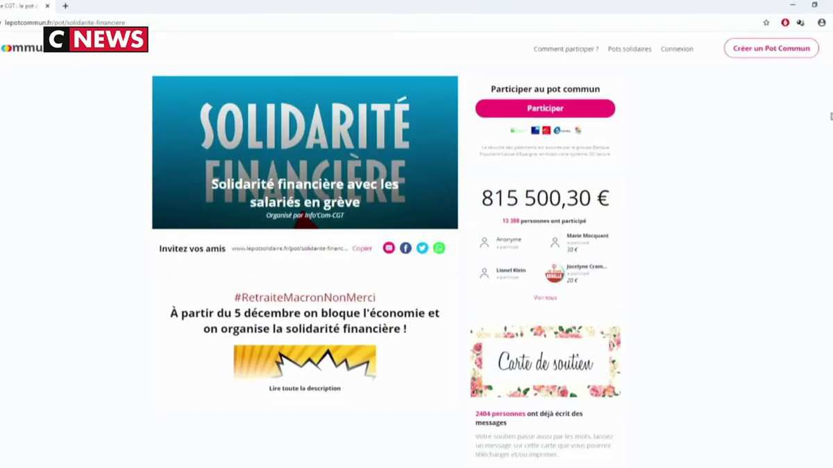 Grève : Des cagnottes syndicales pour perdurer