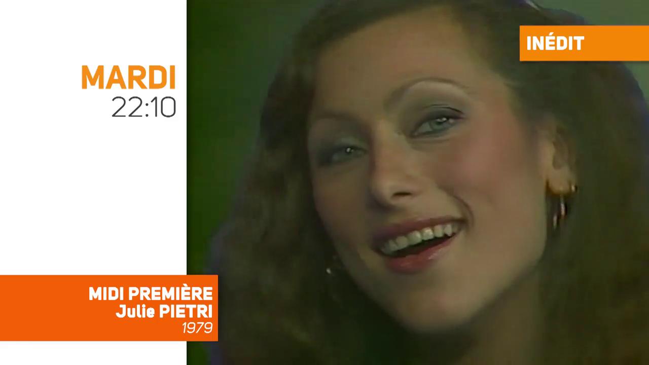 Midi Première avec Julie Piétri, datant de 1979, sur TV Melody, mardi soir à 22h10