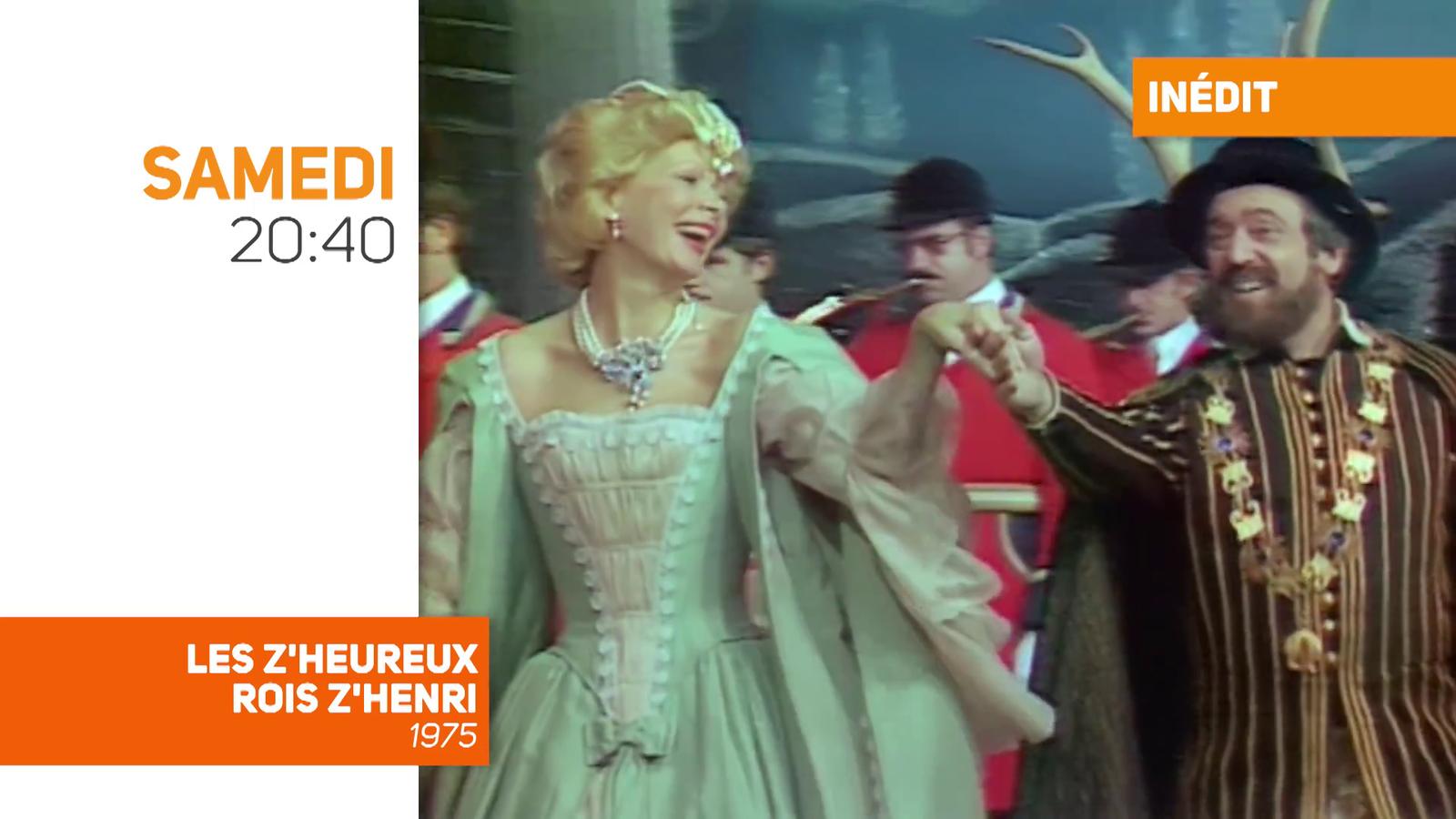 """""""Les Z'heureux Rois Z'Henri"""", avec Roger Pierre et Jean-Marc Thibault, jamais revue depuis 1975, sur TV Melody, samedi soir à 20h40"""