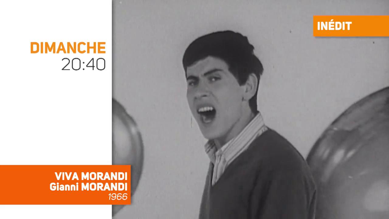Viva Morandi consacré à Gianni Morandi, jamais revue depuis 1966, dimanche soir sur TV Melody à 20h40