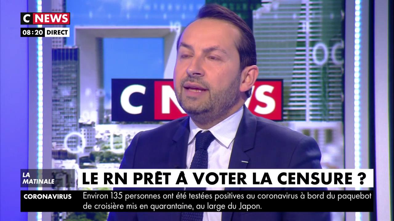 Sébastien Chenu : «Nous n'excluons pas de voter» la motion de censure de la gauche