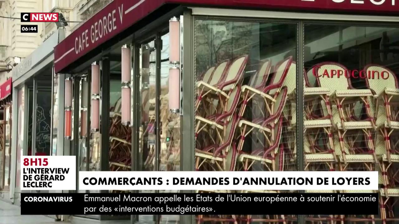 Coronavirus : Les commerçants demandent l'annulation des loyers