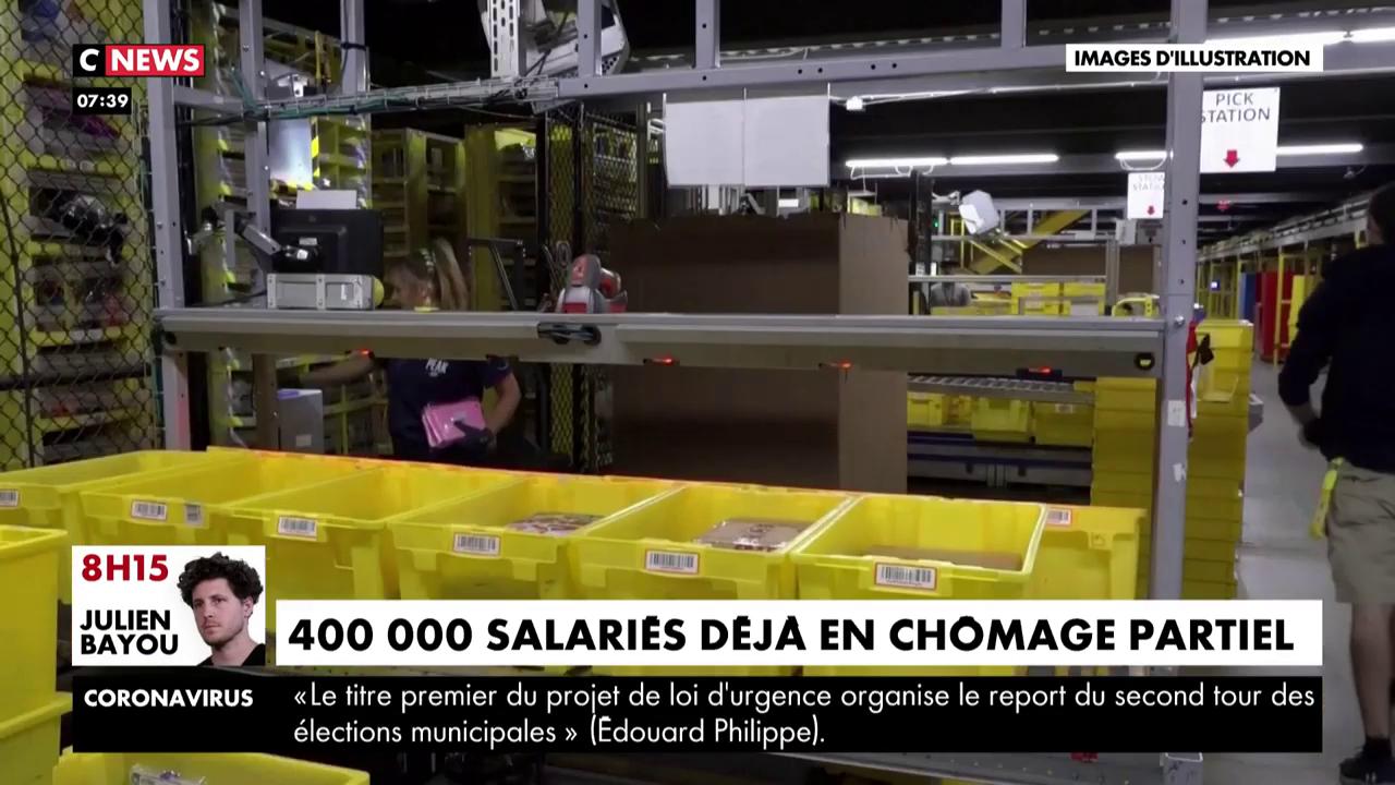 Coronavirus : 400.000 salariés sont déjà au chômage partiel