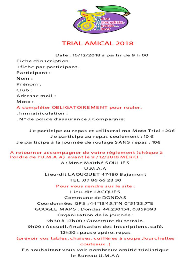 TRIAL AMICAL -16/12/2018- DONDAS  47480