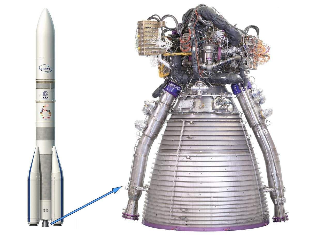 Premier test réussi pour le moteur Vulcain d'Ariane 6 par @ArianeGroup