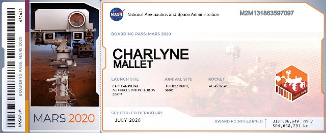 Envoyez votre nom sur Mars