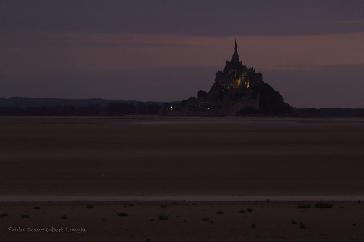 Crépuscule en baie du Mont Saint Michel