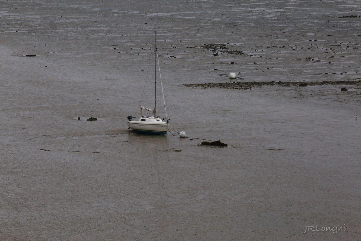 la plage de Saint Jean à marée basse