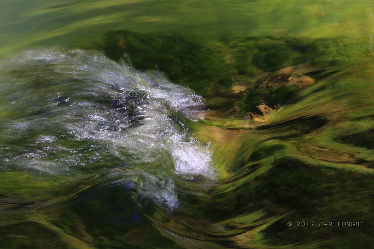 Triptyque Ondines : ONDINES 2, entre Pontet et Grand Saut, printemps 2017 - tirage 40X60 Forex - Photographie non libre de droits © 2017Jean-Robert Longhi