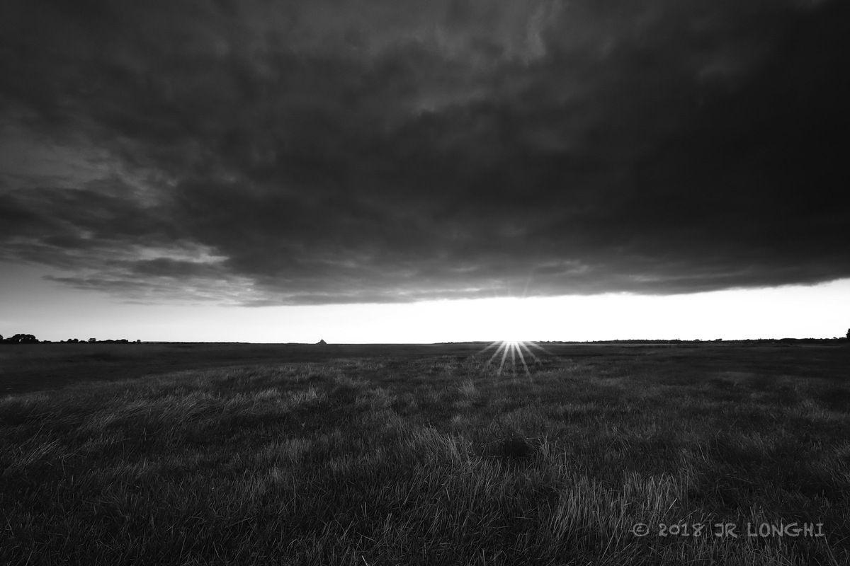 Baie du Mont - 1 - Crépuscule au Gué de l'Epine  ©2018 Jean-Robert Longhi Photographie non libre de droits