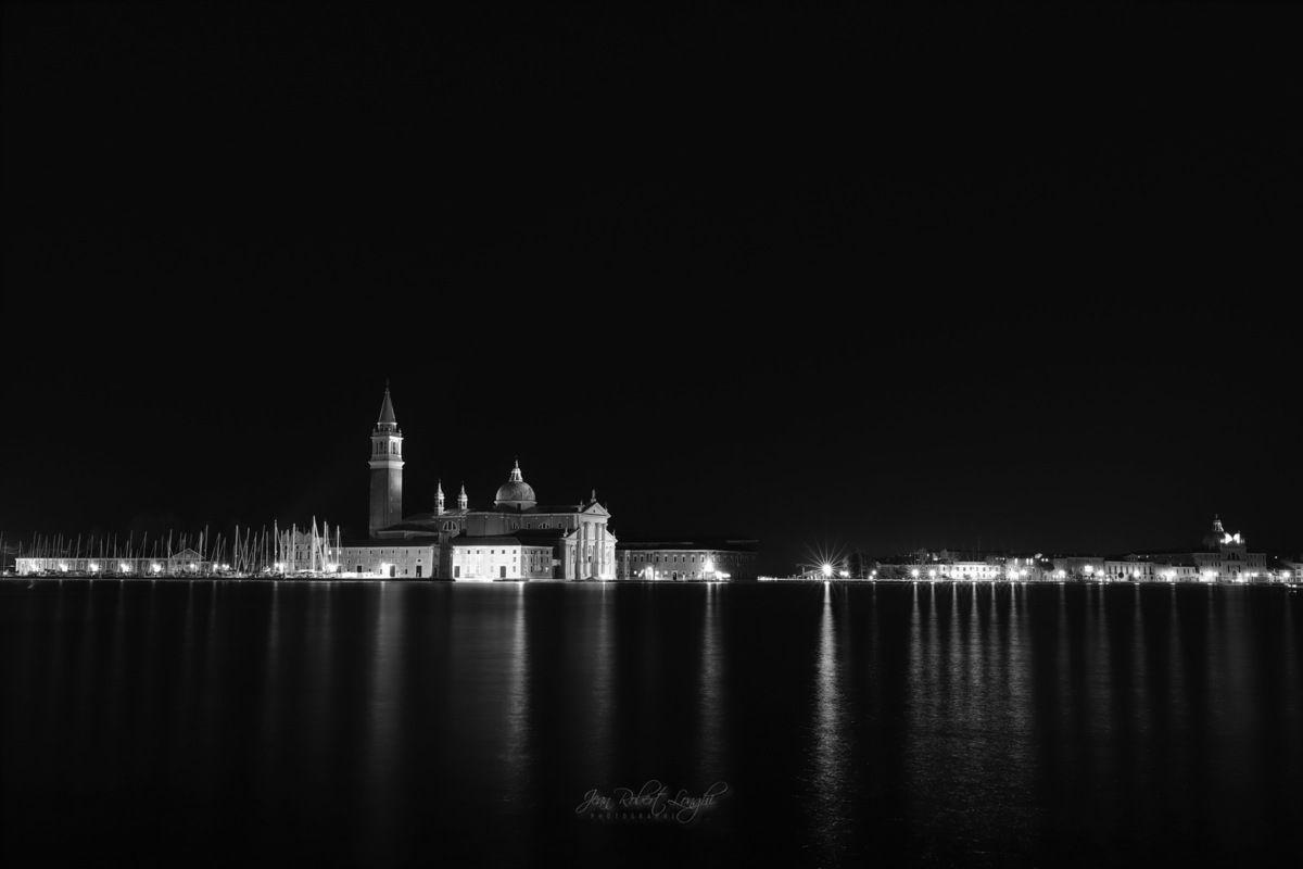Venezia - Serenissima nell cuore della notte 7 - Chiesa di San Giorgio Maggiore  ©2019 Jean-Robert Longhi Photographie non libre de droits
