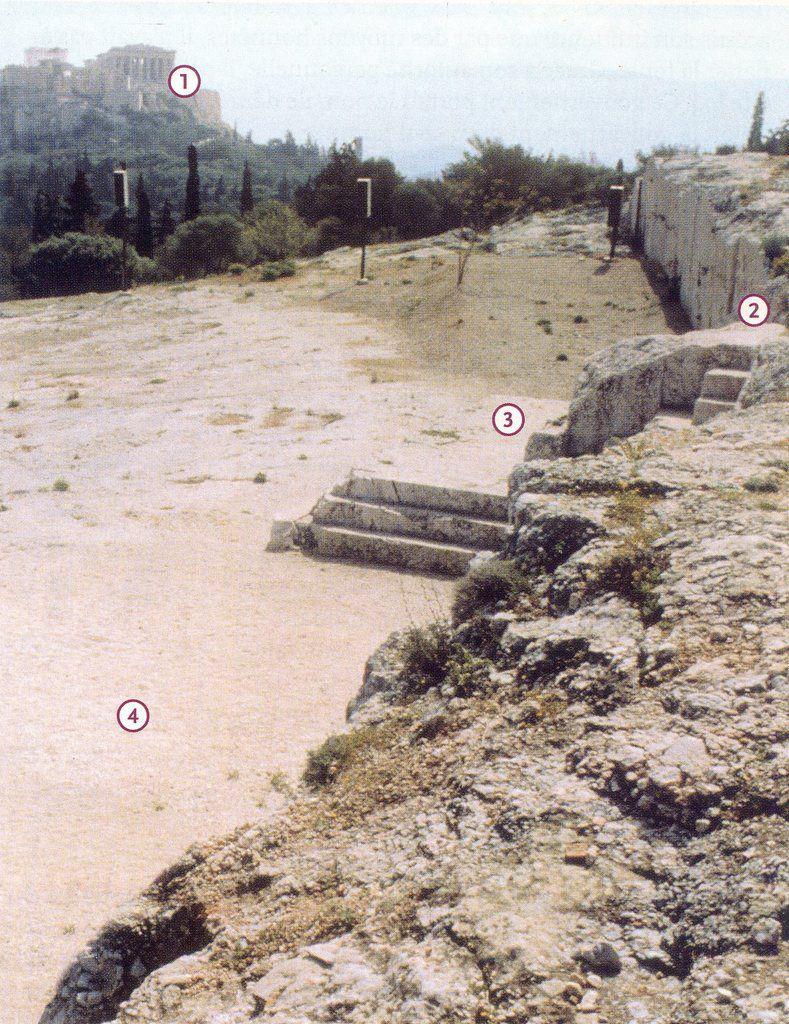 La colline de la Pnyx, lieu de rassemblement de l'Ecclésia aux 5ème et 4ème siècles avant JC.