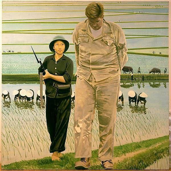 La bataille de riz, Gilles Aillaud, 1968.