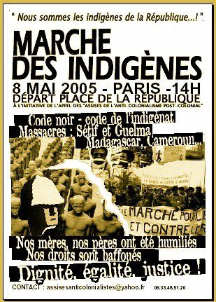 "Affiche issue de mouvements ""post coloniaux"", France, 2005."