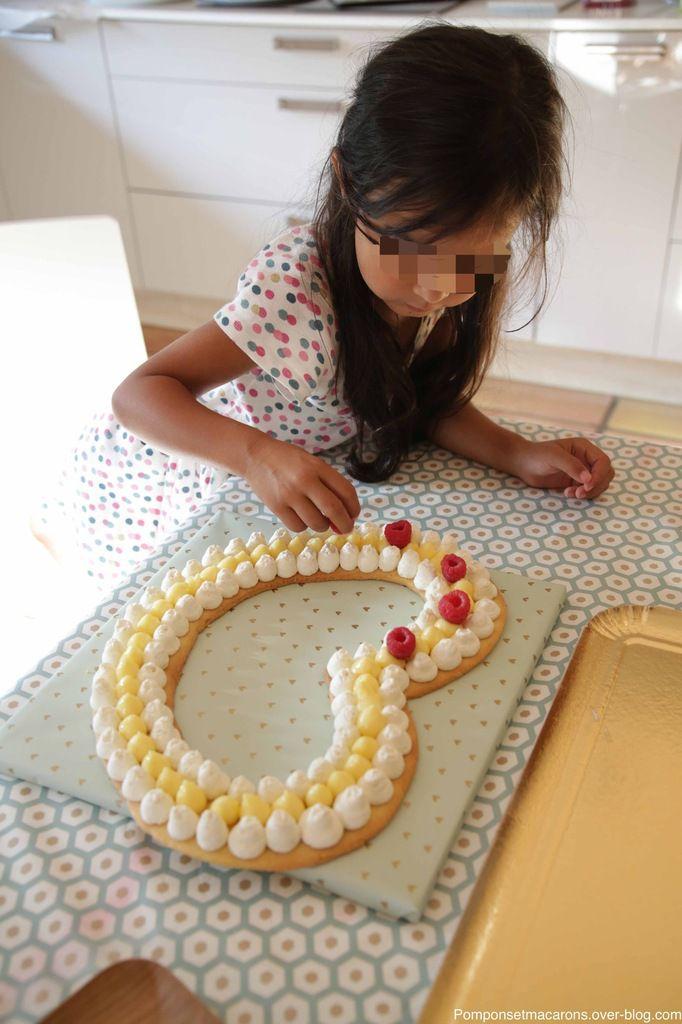 Number cake ou plutôt heart cake!!!