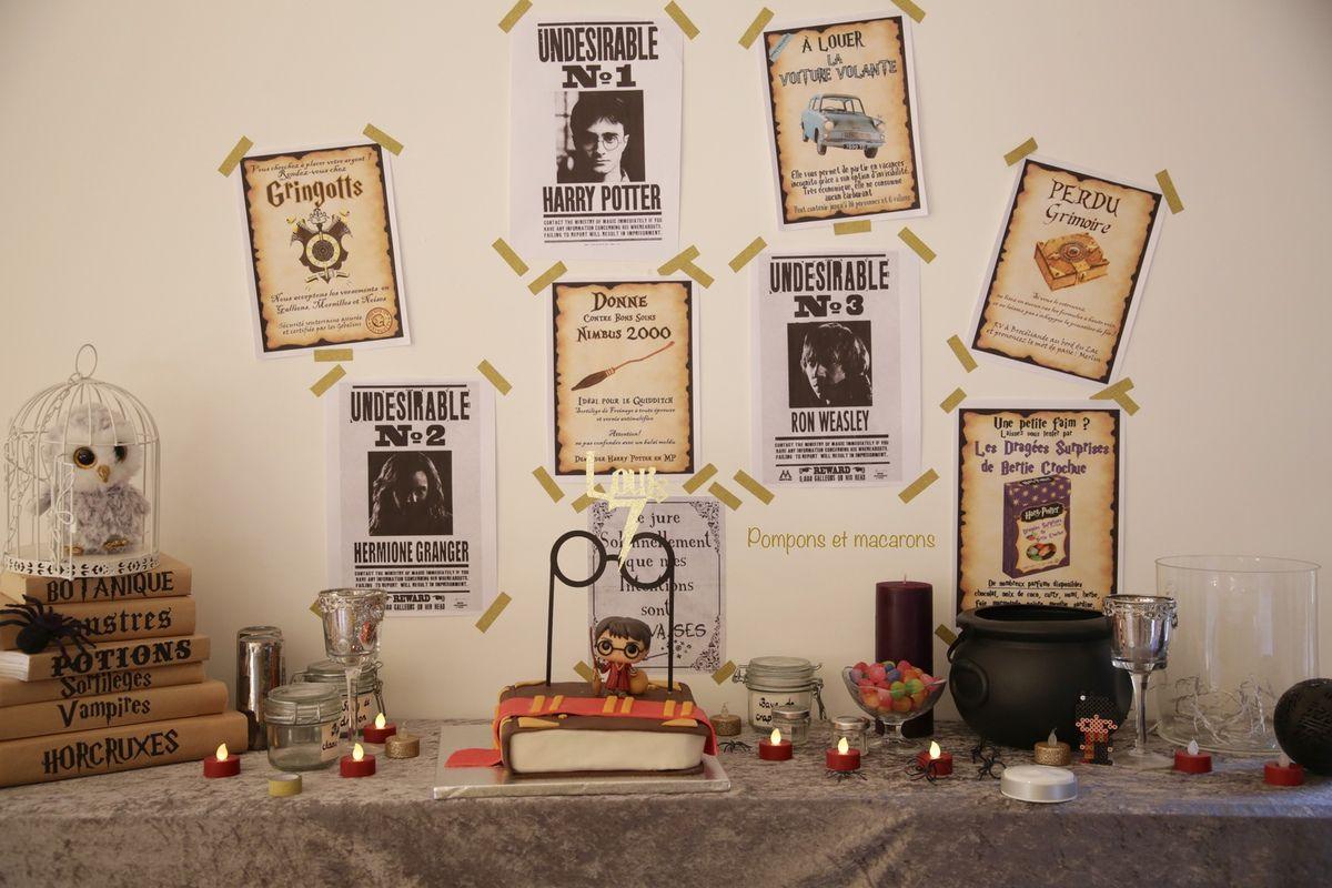 Notre Anniversaire Harry Potter Pompons Et Macarons