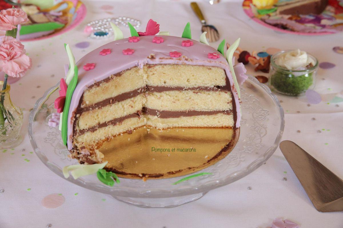 Un gâteau d'anniversaire Fée Clochette!