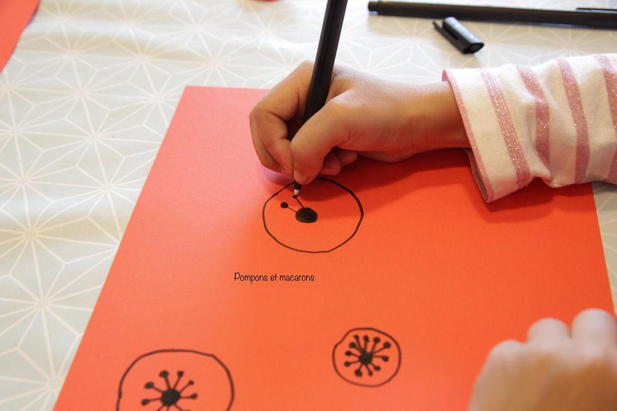 """Cela a été l'occasion de lui présenter un compas et son fonctionnement, car elle trouvait ses cercles """"pas assez ronds""""!"""