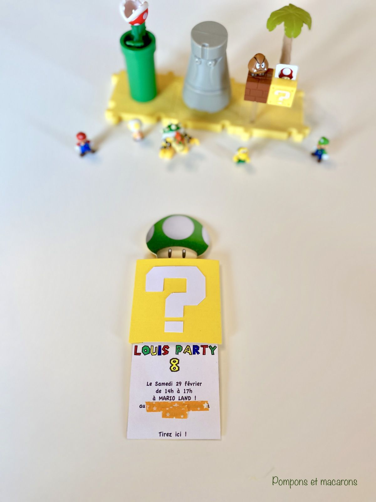 Un anniversaire Super Mario#1: Les invitations {+Tutoriel}