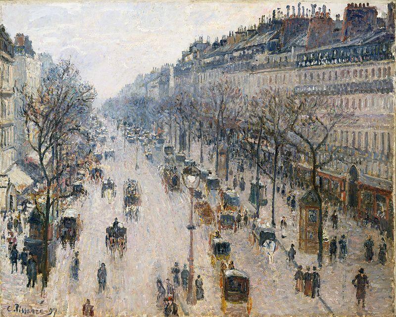 Boulevard Montmartre, matin d'hiver, 1897, Metropolitan Museum of Art, New York