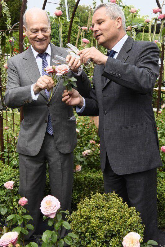 bapteme rose domaine de Chantilly prince Amyn Aga Khan et Arnaud Delbard