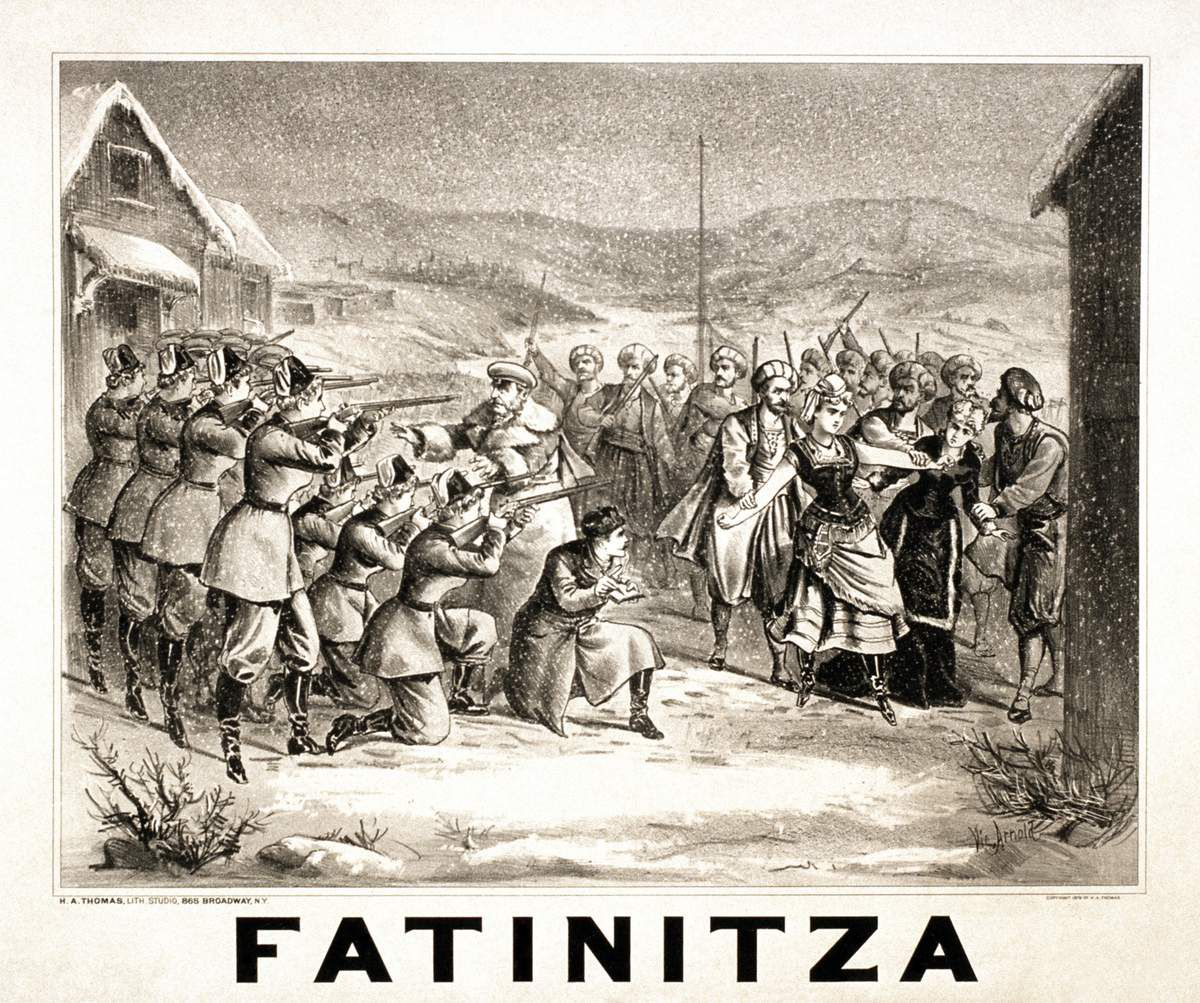 Poster for Franz von Suppé's Fatinitza by the H.A. Thomas Lith. Studio, New York.