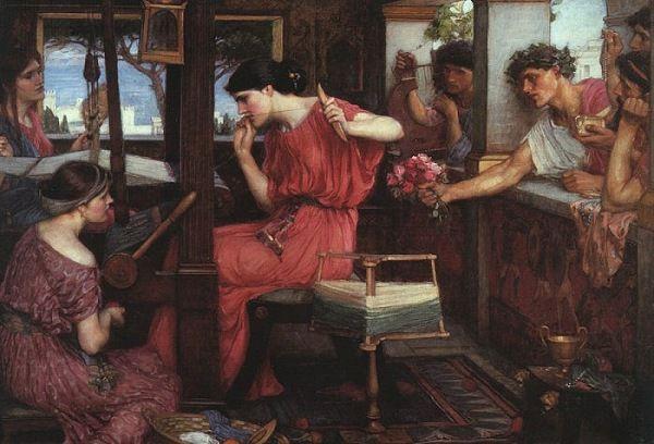 Pénélope et les prétendants par J.W. Waterhouse (1912)