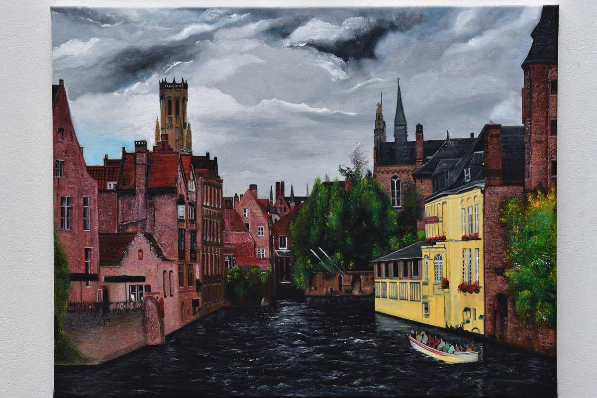 Bruges peinture ville