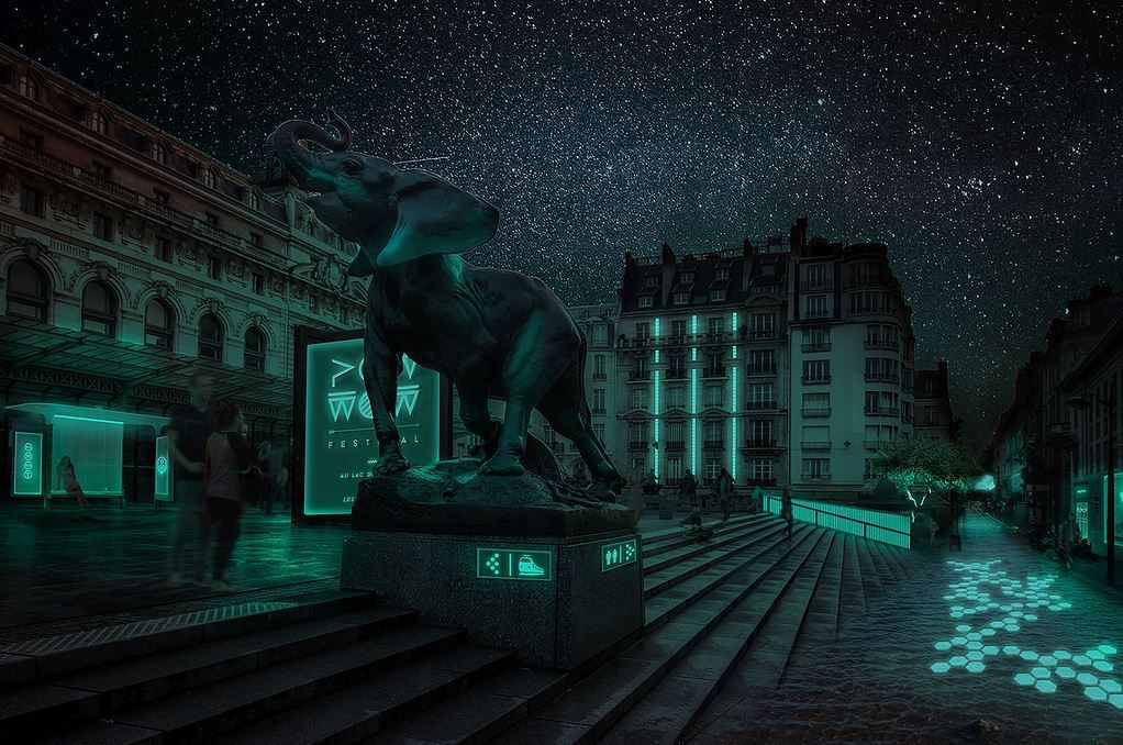L'idée de Glowe : la ville bioluminescente (image Glowe)