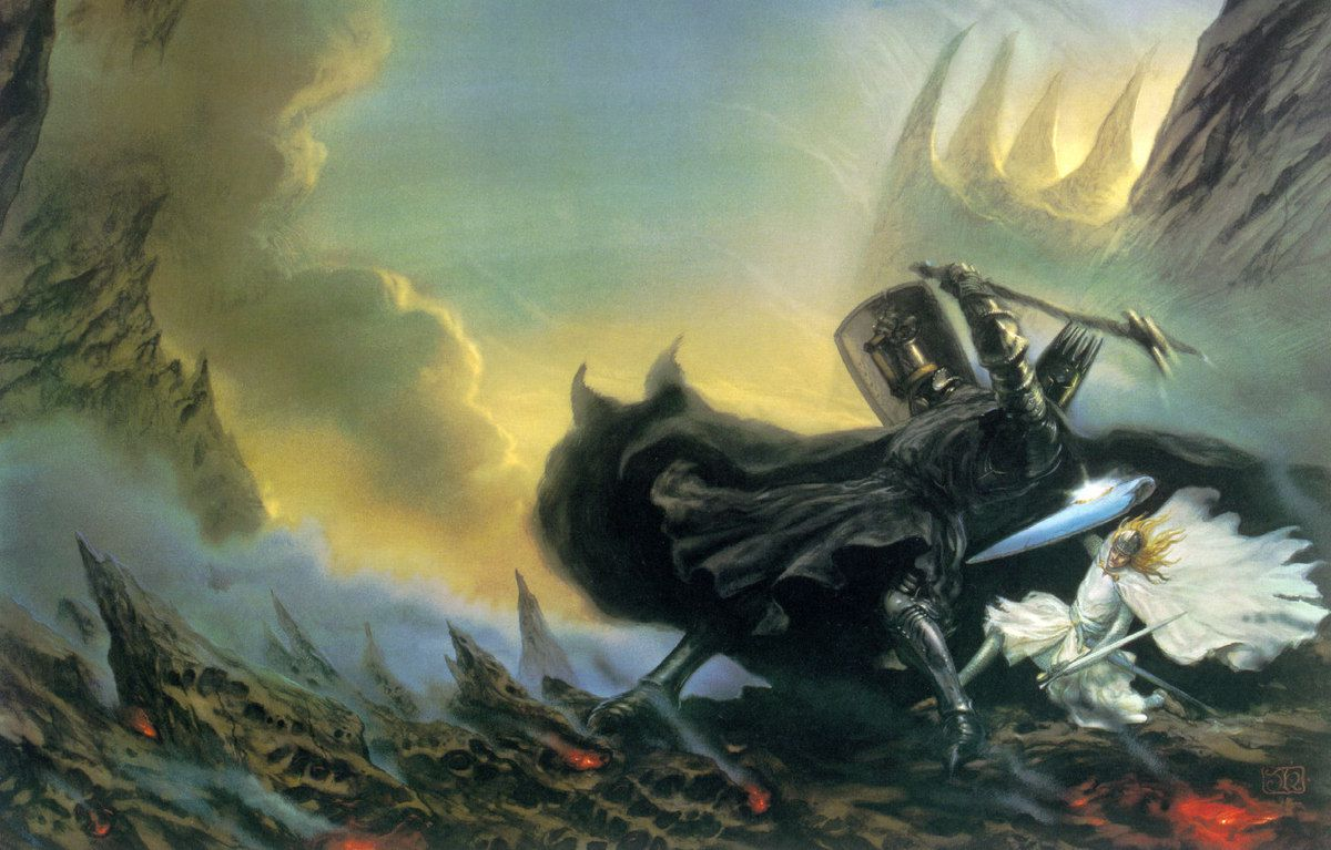 Combat entre Morgoth et Fingolfin