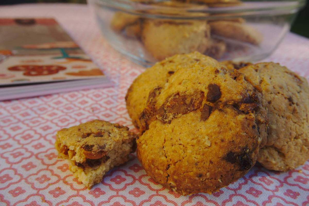 Cookies aux barres chocolatées snickers