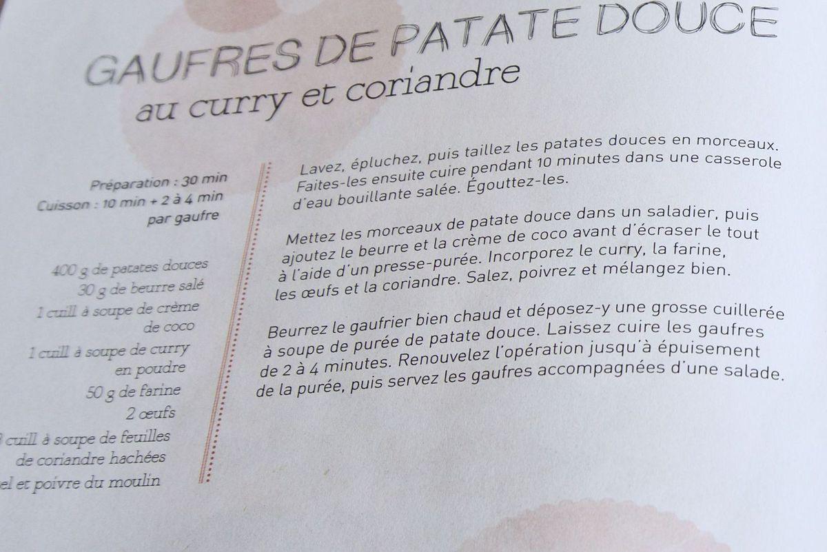 Gaufres à la patate douce  au curry et coriande