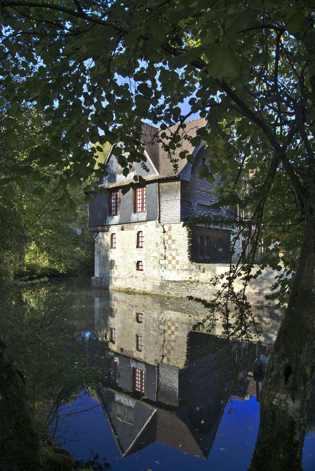 Défi photo 30 jours, 3 mars 2020, reflet, chateau de Saint Germain De Livet