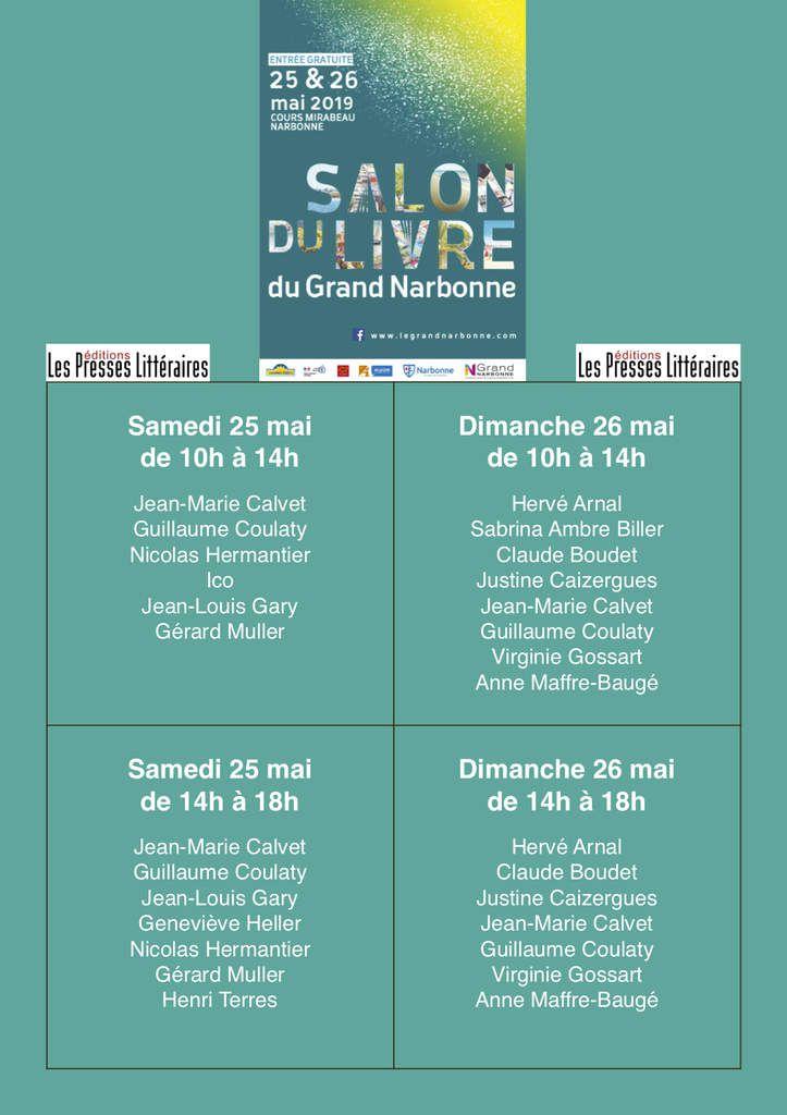C'EST LE 25 AU SALON DE NARBONNE...