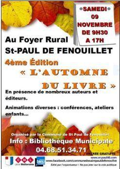 L'Automne du Livre à Saint-Paul-de-Fenouillet. Merci aux organisateurs !