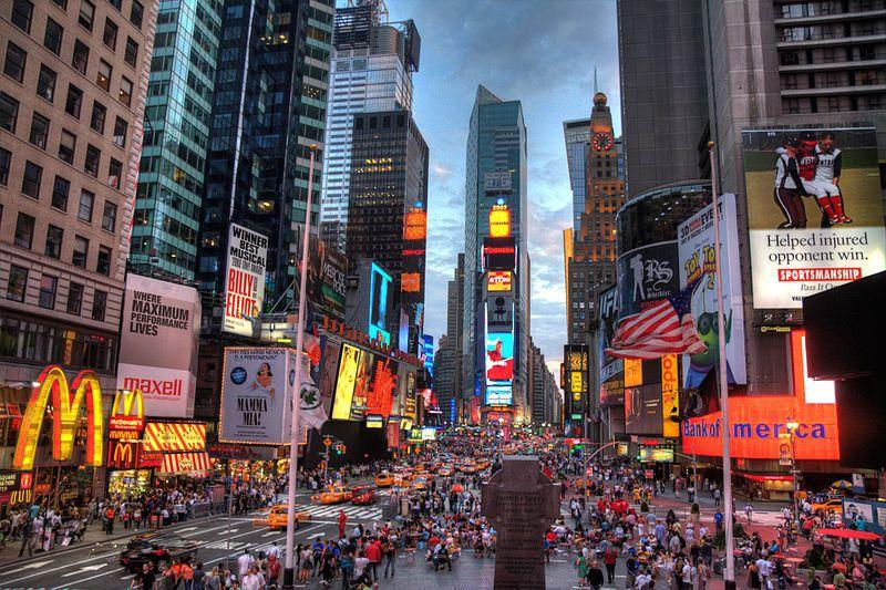 (Times Square, New York, photo de Terabass, 13/09/2009, wikipédia)