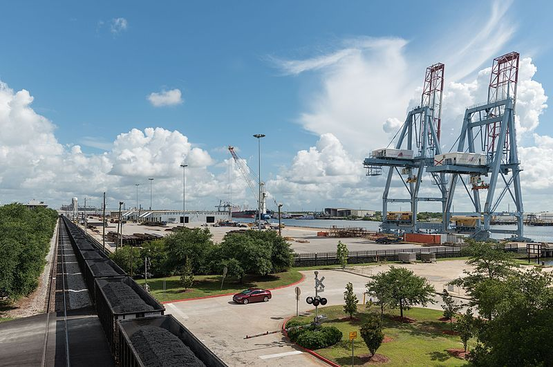 (Port de Mobile, Alabama, photo de DXR, 12/07/2016, wikipédia)