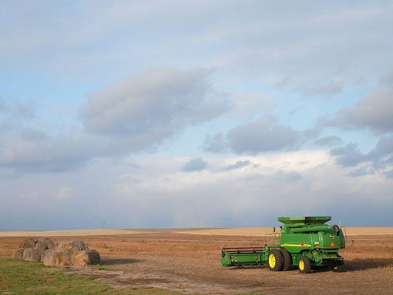 (Moissonneuse, Dakota du Sud, photo de Lars Plougmann, 21/10/2006, www.flickr.com)