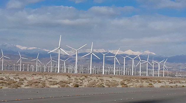 (Palm Springs Windfarm, photo www.alternative-energies.net)