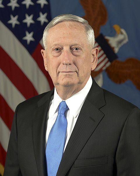 (James Mattis, photo de Monica King, www.media.defense.gov, 25/02/2017, wikipedia)