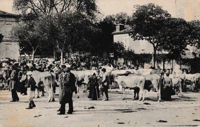 Lectoure Lectourois carte postale marché aux bestiaux village de brocanteurs