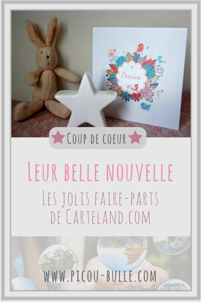 Blog Maman Picou Bulle Carteland Faire Parts