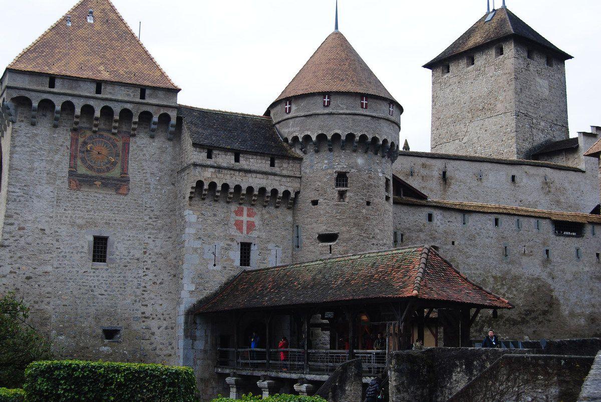 château de Chillon : l'entrée (photo E. Coux)