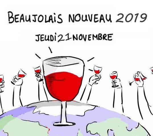 Beaujolais nouveau 2019 à Montaigu vendée, dégustation, vente vin, sud loire, vignoble nantais